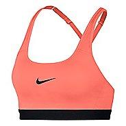Womens Nike Classic Strappy Sports Bra - Crimson/Black S