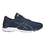 Mens ASICS fuzeX Rush Adapt Running Shoe - Blue/White 11