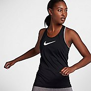 Womens Nike Pro All Over Mesh Sleeveless & Tank Technical Tops - Black/White L