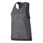 Womens Nike Dry Medalist Sleeveless & Tank Technical Tops - Gunsmoke XL