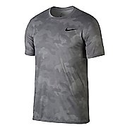 Mens Nike Dry Legend Camo Short Sleeve Technical Tops - Atmosphere Grey XL