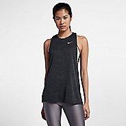 Womens Nike Dry Medalist Split Sleeveless & Tank Technical Tops - Black S