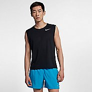 Mens Nike Breathe Rise 365 Sleeveless & Tank Technical Tops - Black M