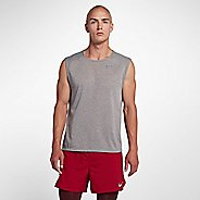 Mens Nike Breathe Rise 365 Sleeveless & Tank Technical Tops - Gunsmoke L