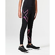 2XU Girls Compression Tights - Black/Pink YS