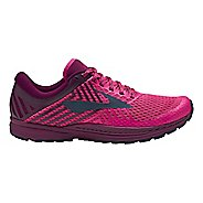 Womens Brooks Mazama 2 Trail Running Shoe - Pink/Plum/Navy 6.5