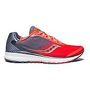 Womens Saucony Breakthru 4 Running Shoe - VizRed/Grey 10.5