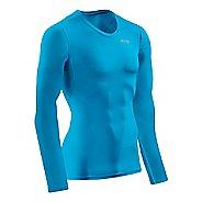 Mens CEP Wingtech Shirt Long Sleeve Technical Tops - Electric Blue/Green M