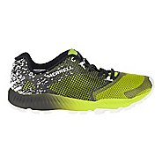 Mens Merrell All Out Crush 2 Trail Running Shoe - Black/Green 8.5