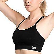Womens Zensah Super Sports Bralette Sports Bras - Black L