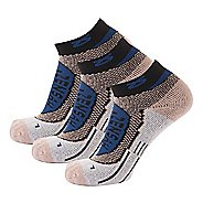Zensah Copper Running 3 Pack Socks - Navy S