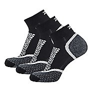 Zensah Grit Ankle Running 3 Pack Socks - Grey S