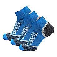 Zensah Grit Ankle Running 3 Pack Socks - Sporty Blue S