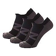 Zensah Invisi Running 3 Pack Socks - Black L