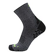 Zensah Traction Running Socks - Heather Grey M