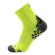 Zensah Traction Running Socks - Neon Yellow M