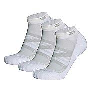 Zensah Wool Running 3 Pack Socks - White S