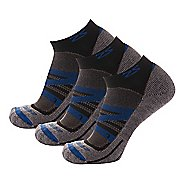 Zensah Wool Running 3 Pack Socks - Navy M
