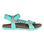 Womens Merrell Around Town Sunvue Woven Sandals Shoe - Turquoise/Orange 5