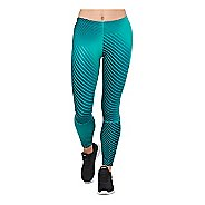 Womens ASICS 7/8 Compression Tights - Linear Blue Steel M