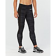 Womens 2XU Fitness with Storage Compression Tights - Black/Charcoal XL