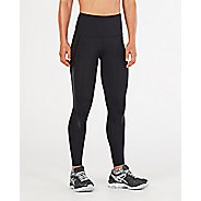 Womens 2XU Hi-Rise Compression Tights - Black/Nero S