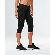 Womens 2XU MCS Bonded Mid-Rise 3/4 Compression Tights