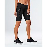 Womens 2XU MCS Mid-Rise Compression & Fitted Shorts - Black/Nero S