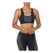 Womens ASICS Color Block Sports Bras - Black M