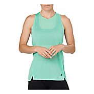 Womens ASICS Cool Sleeveless & Tank Technical Tops - Opal Green L