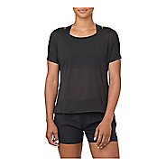 Womens ASICS Crop Short Sleeve Technical Tops - Black S