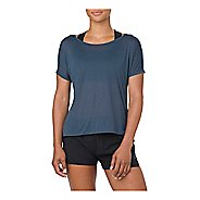 Womens ASICS Crop Short Sleeve Technical Tops