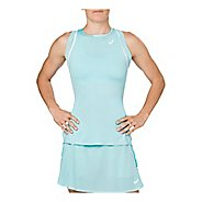 Womens ASICS Gel-Cool Sleeveless & Tank Technical Tops - Porcelain Blue L