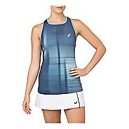 Womens ASICS GPX Sleeveless & Tank Technical Tops - Ghost/Shadow/Blue L