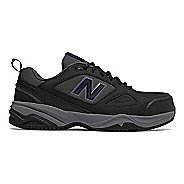 Womens New Balance 627v2 Walking Shoe - Black/Purple 11