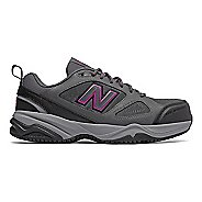 Womens New Balance 627v2 Walking Shoe - Grey/Pink 5.5