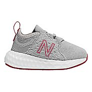Kids New Balance Fresh Foam Cruz v1 Running Shoe - Silver/Pink 6C