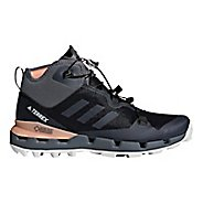 Womens adidas Terrex Fast Mid GTX - Surround Hiking Shoe - Black/Grey/Coral 9