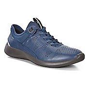 Womens Ecco Soft 5 Sneaker Casual Shoe - Black/Black-Concrete 38