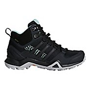 Womens adidas Terrex Swift R2 Mid GTX Hiking Shoe - Black/Green 11