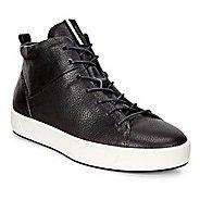 Womens Ecco Soft 8 High Top Casual Shoe - Black 10.5
