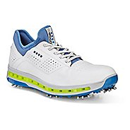 Mens Ecco Golf Cool 18 GTX Cleated Shoe - White/Dynasty Blue 6.5