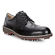 Mens Ecco Golf Lux Cleated Shoe - Black/Black 40