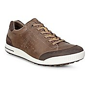Mens Ecco Golf Street Retro HM Cleated Shoe - Birch/Coffee 39