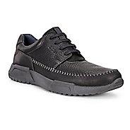 Mens Ecco Luca Moc Toe Tie Casual Shoe - Black/Black/Marine 39