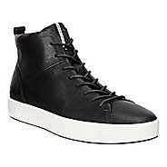Mens Ecco Soft 8 High Top Casual Shoe - Black/White 5.5