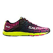 Womens Salming Speed 6 Running Shoe - Pink/Safety Yellow 9