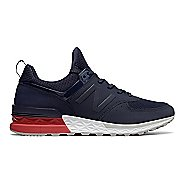 Mens New Balance 574 Sport Casual Shoe - Navy/Red 9