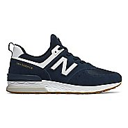 Mens New Balance 574 Sport Casual Shoe - Indigo/White 10