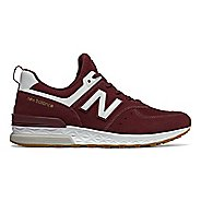 Mens New Balance 574 Sport Casual Shoe - Burgundy/White 11.5